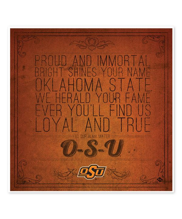 Look at this Oklahoma State Cowboys Fight Song Trivet on #zulily today!