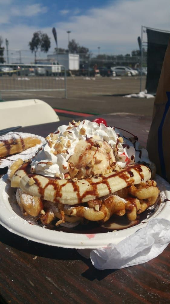 Yummmm….banana Split Funnel Cake!!!!!! The Best Part – Yelp   – Funnel Cake – …