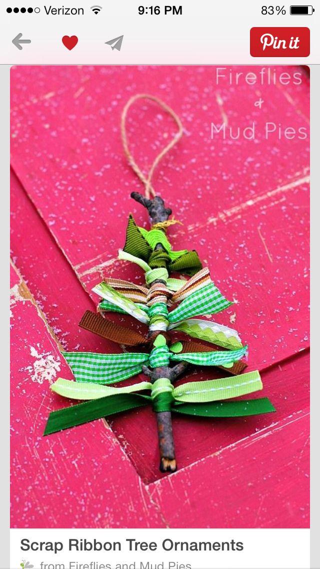 Cute scrap ribbon tree