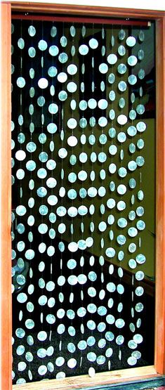 Capiz shell fly curtain