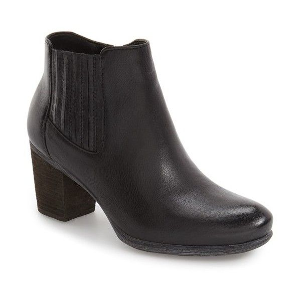 Women's Josef Seibel 'Britney 35' Chelsea Boot (550 BRL) ❤ liked on Polyvore featuring shoes, boots, ankle booties, black leather, leather boots, black chelsea boots, black leather boots, leather chelsea boots and side zip boots