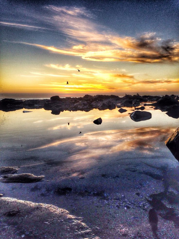 capetown sunsets #sunset #ocean #rockpool