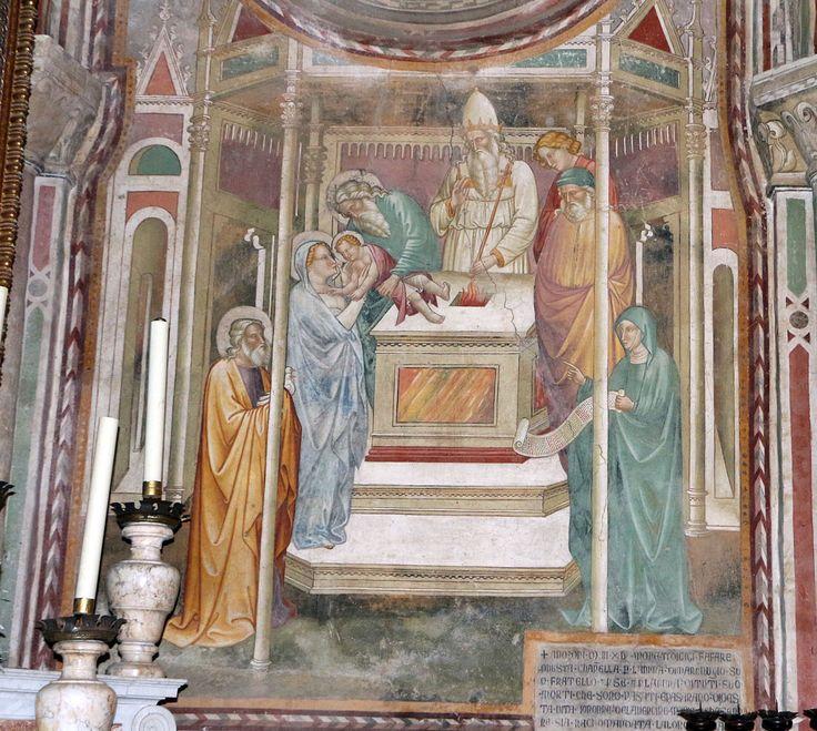 Cenni di francesco, cappella della croce di giorno, 1410, stroie di cristo nell'abside, presentazione al tempio.
