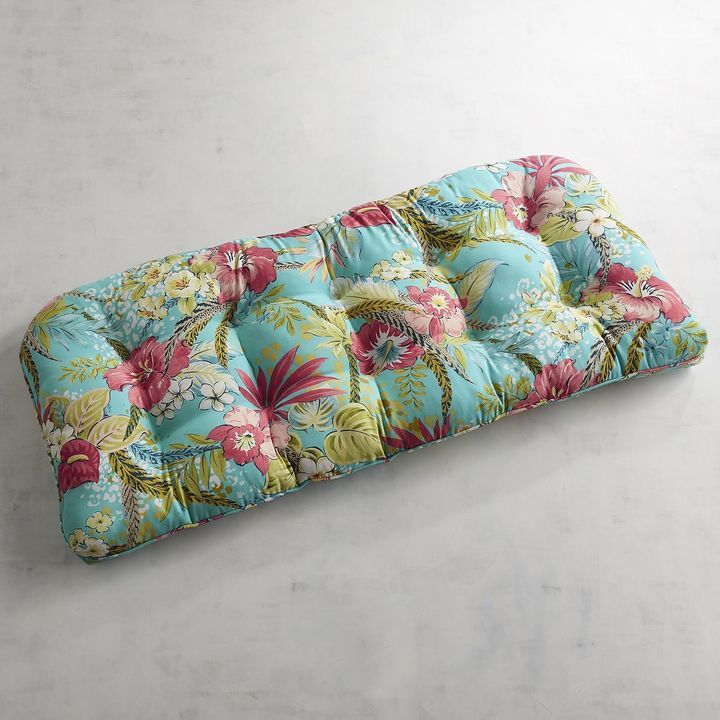 Pier 1 Imports Standard Contour Settee Cushion in Isla Tropical