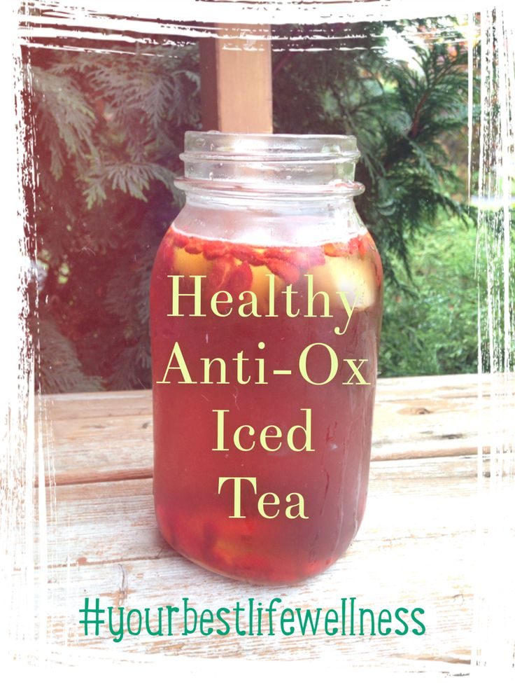 Rooibos tea is highly beneficial for pregnant women! Get your antioxidant fix with this healthy rooibos goji berry iced tea! Steep your rooibos tea bag or leaves in 1L water and add 1tbsp agave syrup, 1 tbsp Goji berries and ice! Chill in fridge until cold :)  #pregnancy #healthypregnancy #icedtea #yourbestlifewellness