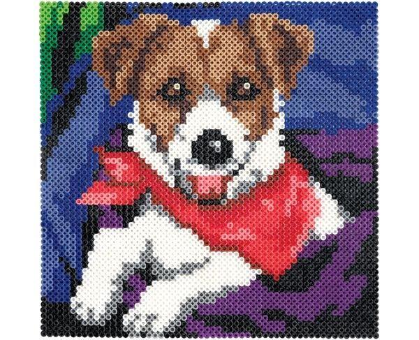 Perro, Dog, Jack Russell, Perler Beads, Hama Beads