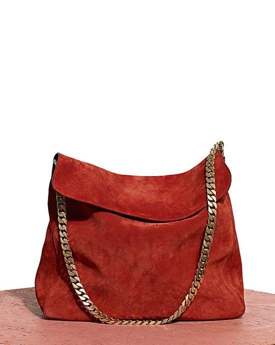 3eff1261e66b5 Rust suede leather shoulder bag
