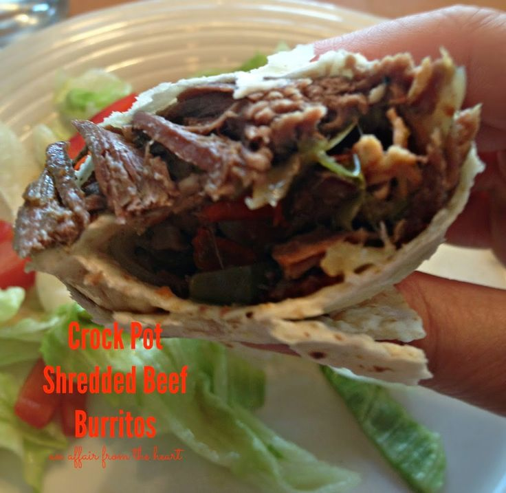 Crock Pot Shredded Beef Burritos @michaelaaafth