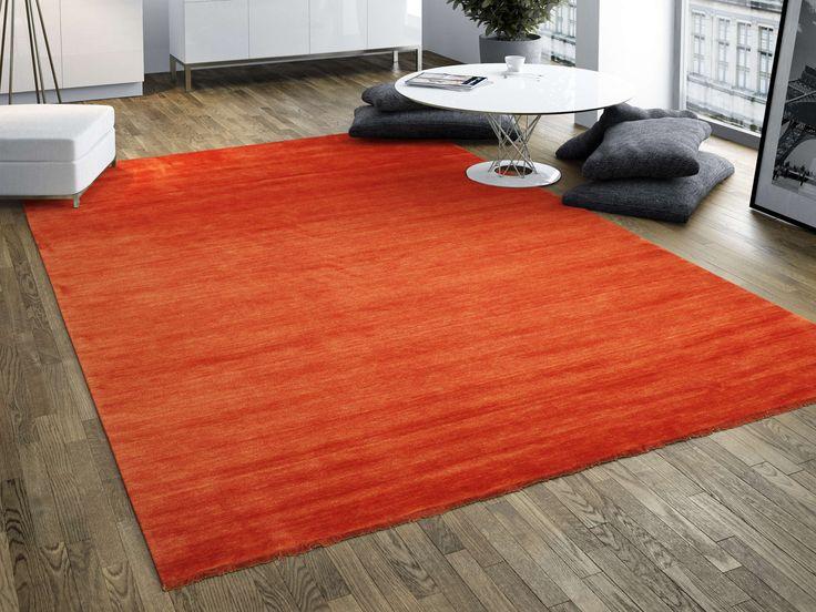 Handloom fringes - Roestkleur / Rood 140x200 - RugVista