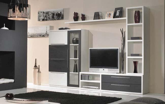 Tiendas de muebles y decoraci n merkamueble composici n modular colores blanco negro - Tienda de muebles en cartagena ...