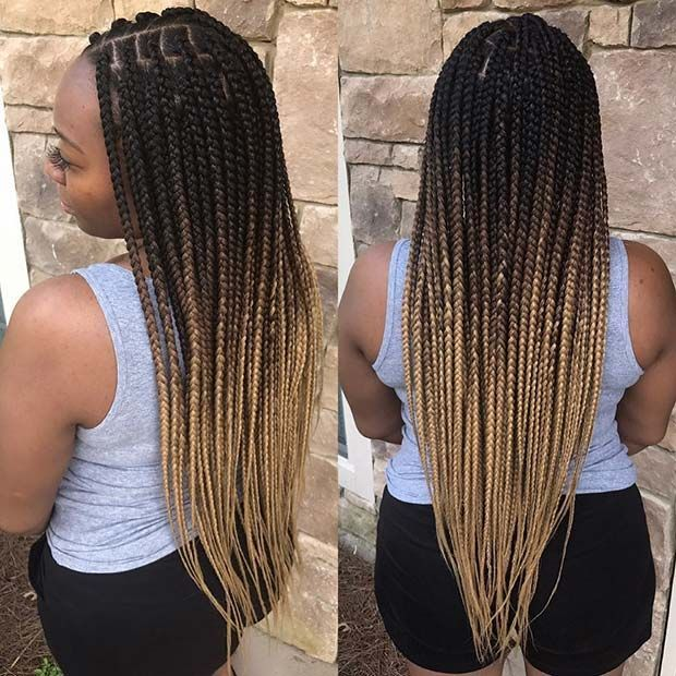 23 Pretty Box Braids With Color For Every Season Box Braids