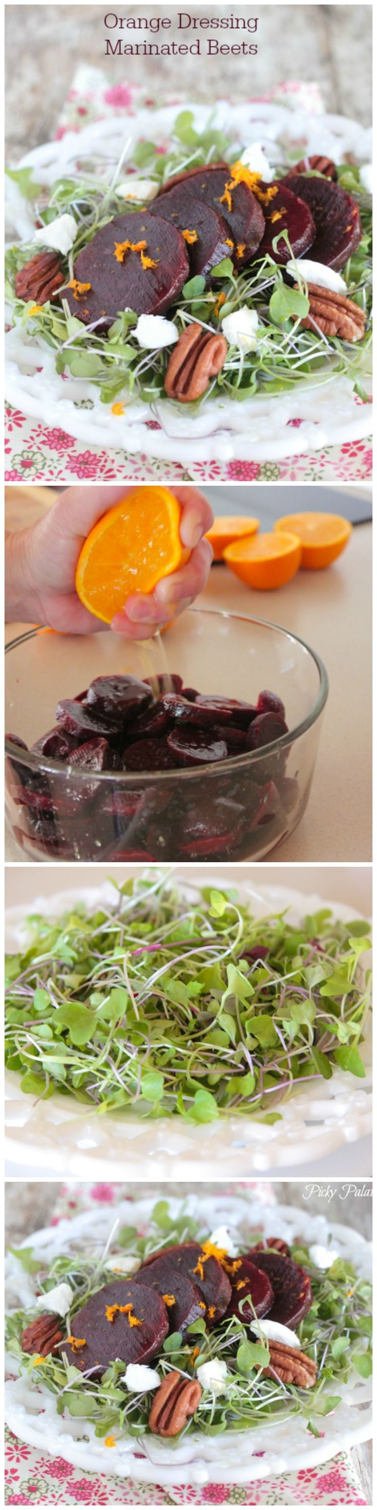 Orange Marinated Beet Salad! Refreshing and so good for you!
