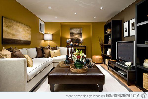 Modern Family Room Design For a basement