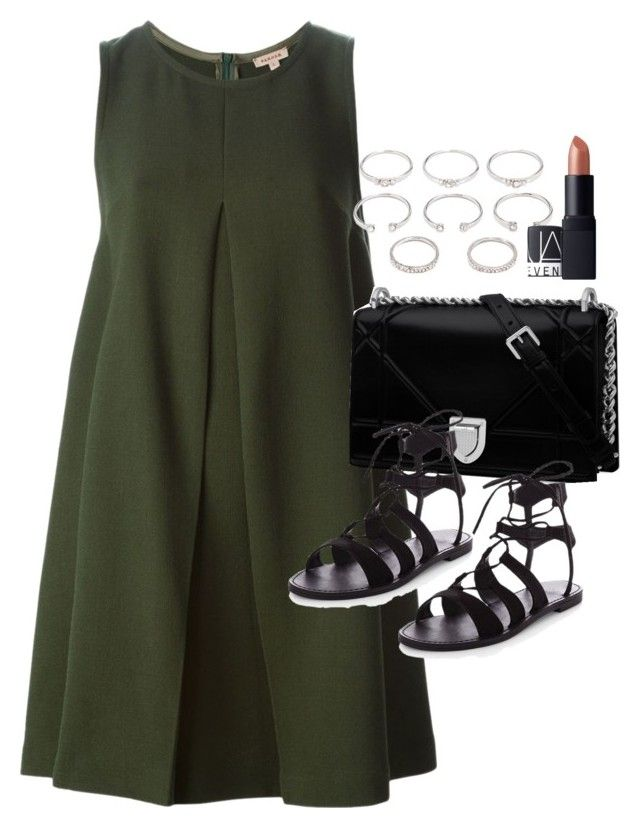 """Outfit for summer with sandals"" by ferned on Polyvore featuring P.A.R.O.S.H., Forever 21 and NARS Cosmetics"