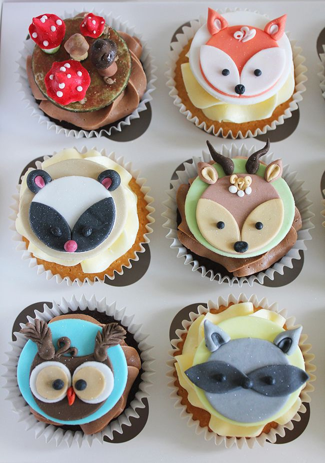 Woodland Creature Cupcake Toppers Koen S 1st Birthday In