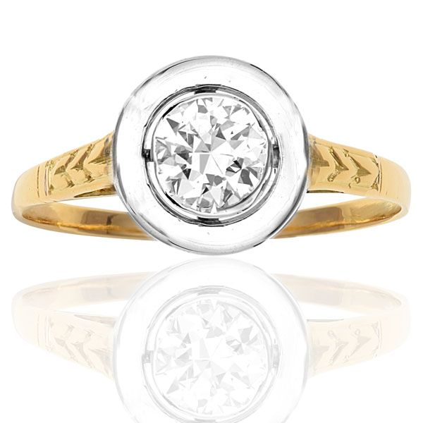 Wonderful Art Deco Solitaire Diamond Ring