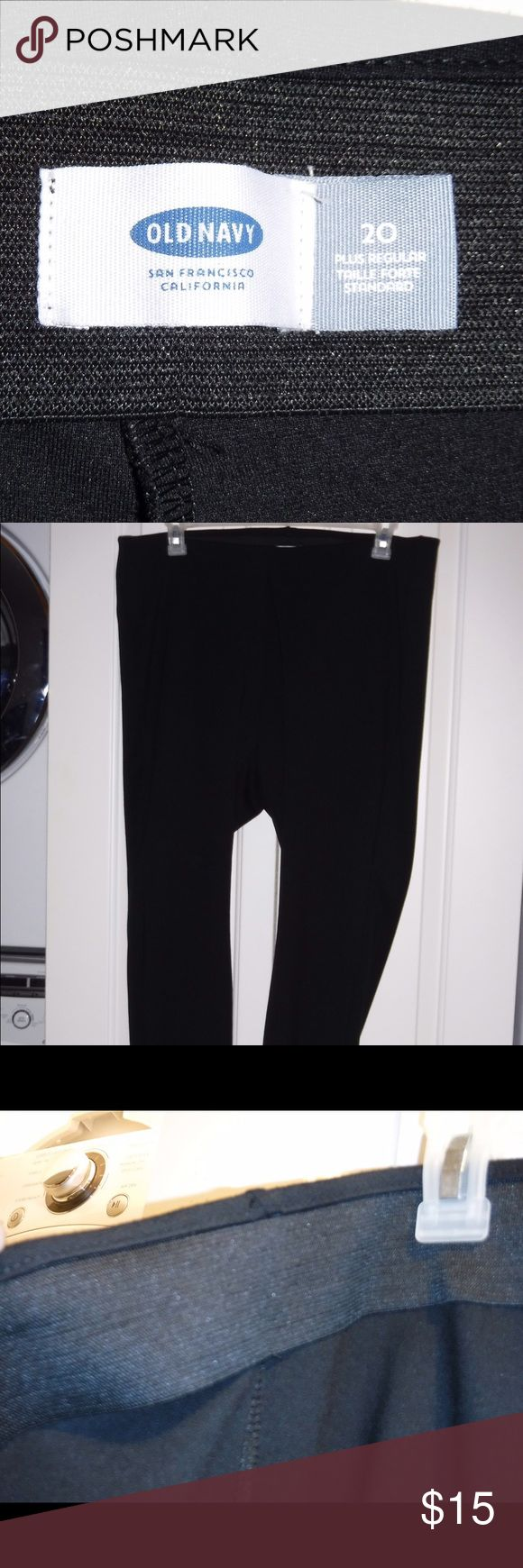 Old Navy Plus Size Thick Leggings Size 20 Plus Black leggings from Old Navy pants. Very comfortable with a thick waistband, no pockets but very thick materials that don't make them see-through. Worn a handful of times. Old Navy Pants Leggings