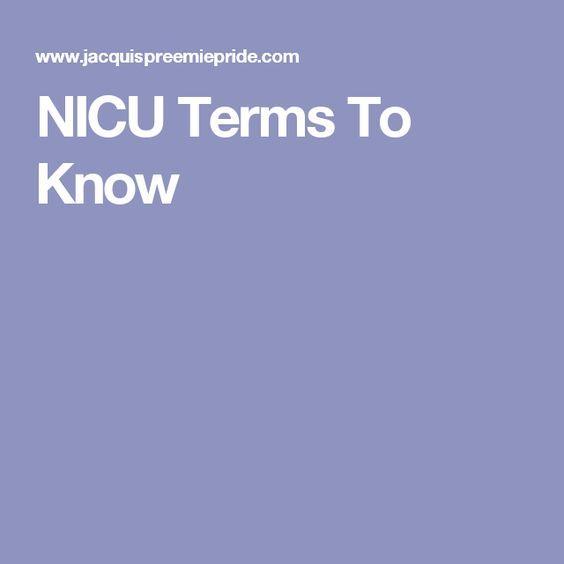 NICU Terms To Know