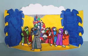 Crossing The Red Sea  A great craft to help your kids remember the walls of the Red Sea and how God performed a miracle that allowed His people to cross into safety  http://craftingthewordofgod.com/2013/06/16/crossing-the-red-sea/