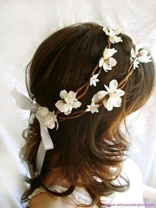Corona de flores.