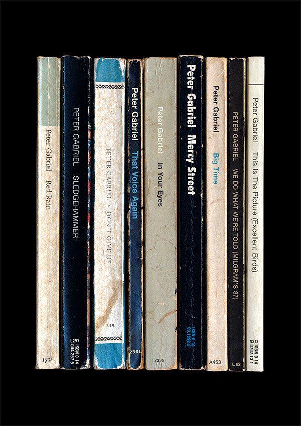 Peter Gabriel 'So' Album As Books (Poster Print)