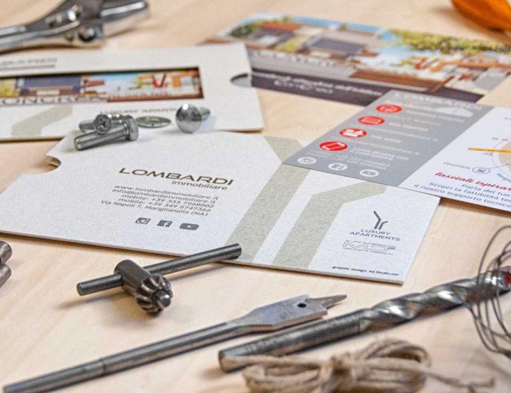 Progetto Lombardi - A5 Studio Portfolio - Render 3d architettura e brochure con folder - Napoli