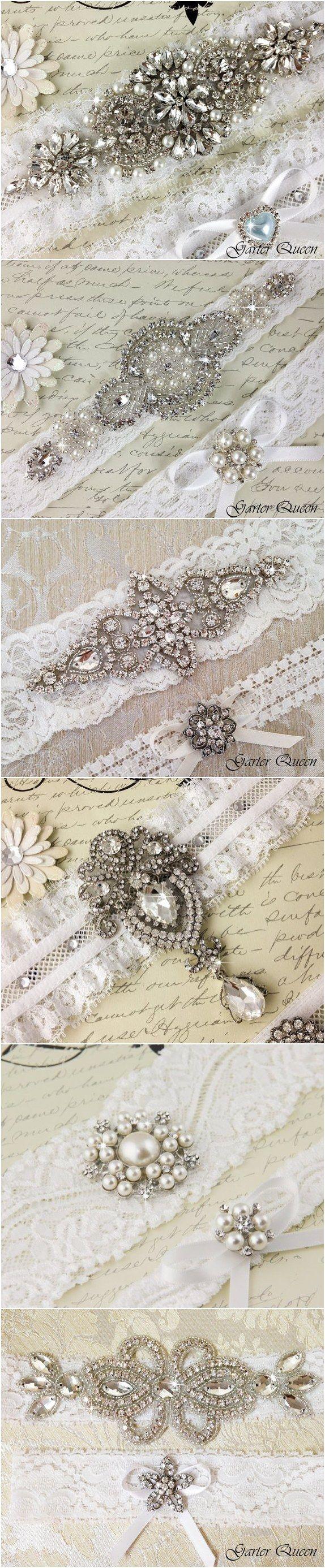 Ivory Lace Wedding Garter Sets | Deer Pearl Flowers