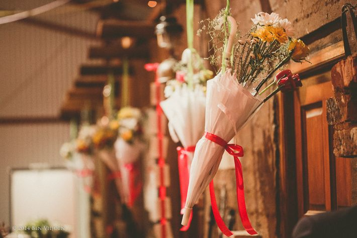 my #wedding #decor: #umbrellas as flower displays