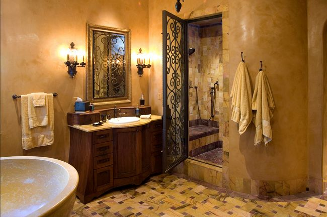 24 Mediterranean Bathroom Ideas: Mediterranean Bathroom Designs