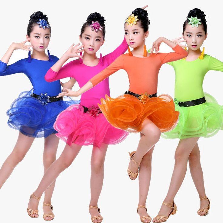 >> Click to Buy << Child Children Girl Ballet Dance Dress For Girls Cha-Cha Long Sleeve Latin Dress Ballet Dancing Dancewear Kid Latin Costume #Affiliate