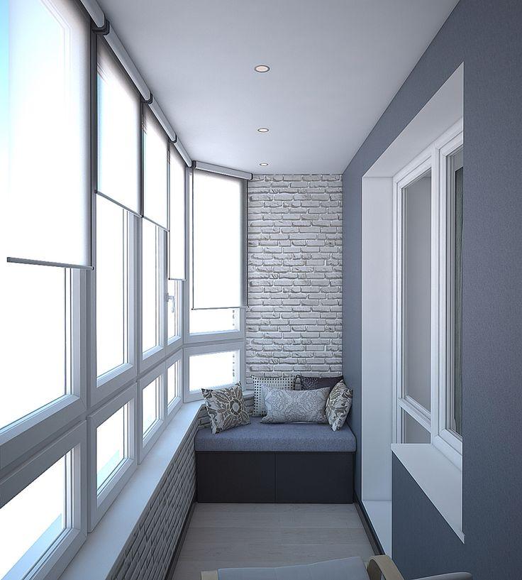 Балкон, диван.