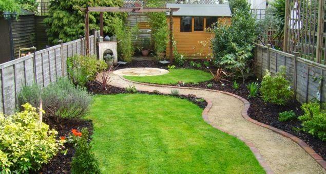 long narrow deck pictures | Rectangular garden design
