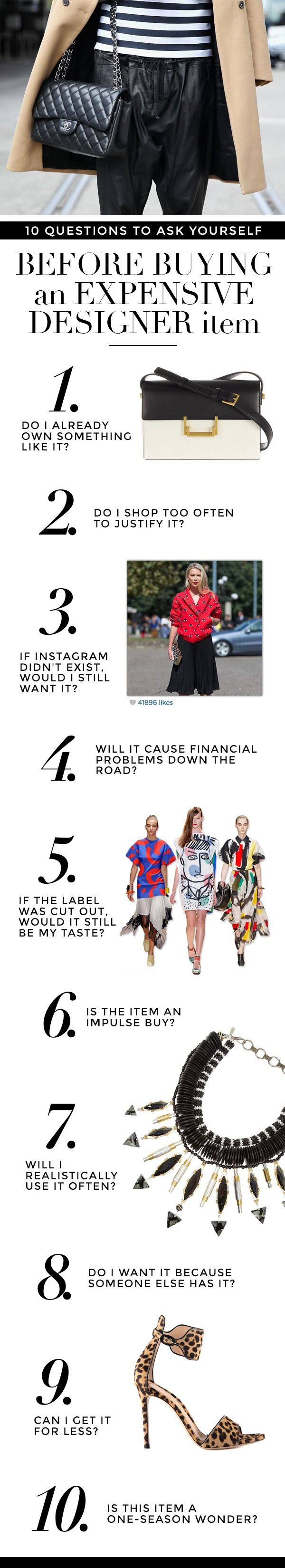 10 Questions to ask yourself before buying a pricey designer item|StyleCaster