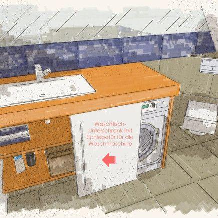 Waschmaschine-unter-Waschtisch