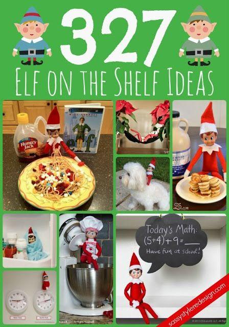 327 elf on the shelf ideas on sassystyleredesign.com #elfontheshelf #elf #ideas #christmas