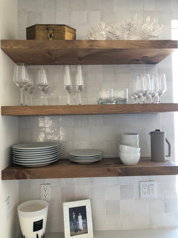Floating Shelf Over Couch Furniture And Small Floating Shelves Extra Storage In 2020 Floating Shelves Kitchen Wood Floating Shelves Solid Wood Shelves