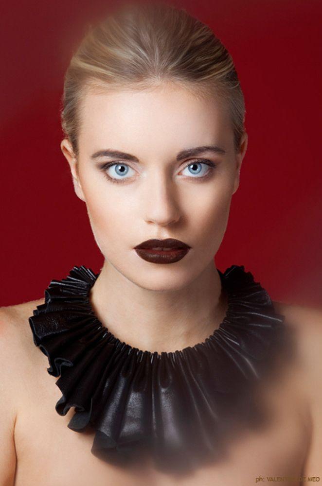 """""""Black"""" leather collar necklace   Giulia Boccafogli"""