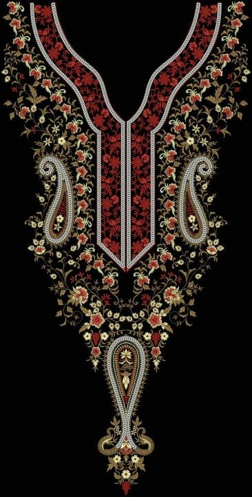 Pakistani embroidery - elegant and rich