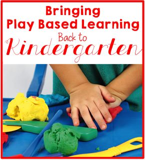 Learning through play, kindergarten play based learning
