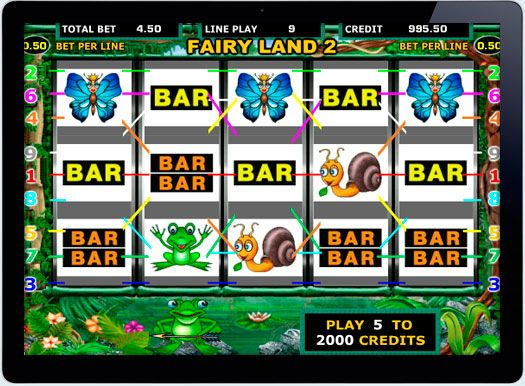 Игровой автомат Fairy Land на деньги рубли.  Не смотря на обилие новых игровых автоматах, по прежнему не менее популярен Fairy Land отIgrosoft, в который также можно играть на деньги рубли в онлайн казино. Такая популярность стала возможнымблагодаря специальным функциям �