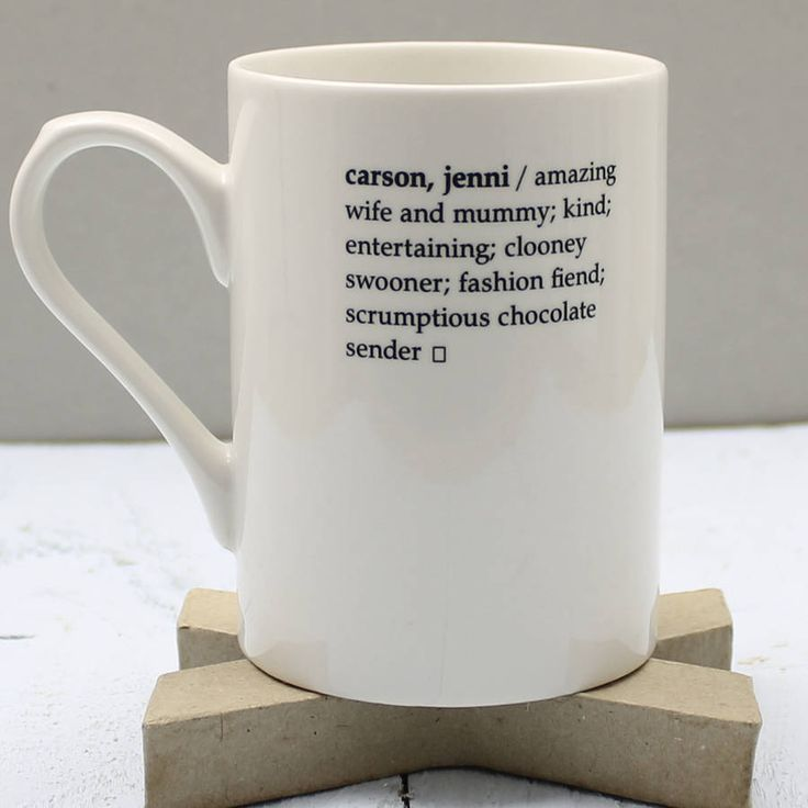 Personalised Dictionary Definition Mug from notonthehighstreet.com