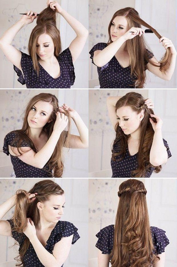 Si tienes hoy una #fiesta, te compartimos estos #peinados #sencillos paso a #paso.