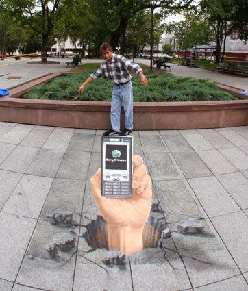 "Julian Beever 3D Street Art   | Do You WannaA Draw it - You Do Want AnaDraw! | Download Illusion Drawing App ""AnaDraw"" https://itunes.apple.com/app/apple-store/id885877961?pt=2090984&ct=AnaDraw-pinterest&mt=8"