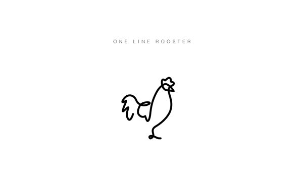 Set of animal logos / icons made in one line
