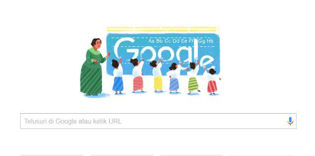 4 Desember 2016 Google Doodle Peringati Kelahiran Dewi Sartika
