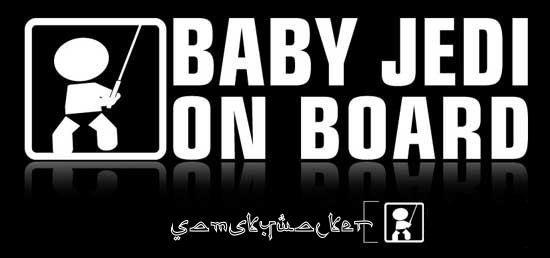baby jedi on board ^_^