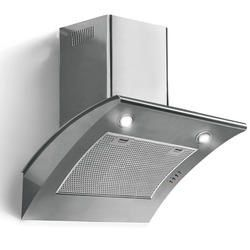 Baumatic BTC675SS Curved Angled 60cm Chimney Cooker Hood Stainless Steel