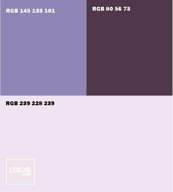 Abbinamento colori viola chiaro  viola  viola scuro