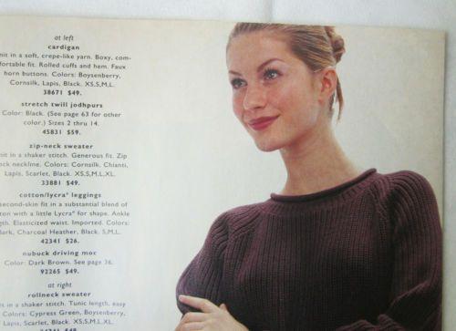vintage 1996 TWEEDS catalog Gisele Bundchen before nose job Janet Evans Olympian
