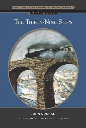 72. [THE THIRTY NINE STEPS] Follow Richard Hannay as he runs from the law in the Scottish countryside, seeking both to prove his innocence and to decipher the clues that could change the fate of Britain in World War I. Part Sherlock Holmes, part Da Vinci Code.
